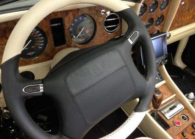Bentley steering wheel wrapping