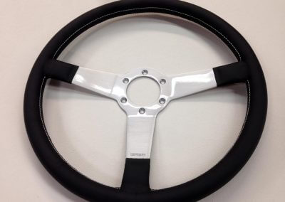 leather steering wheel covering