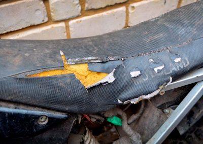 repair motorcycle upholstery