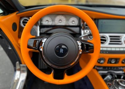 Bentley Steering Wheel upholstery repair