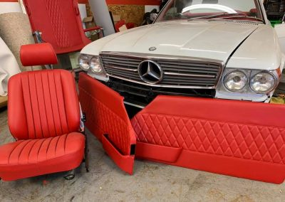Classic Mercedes Benz upholstery repair