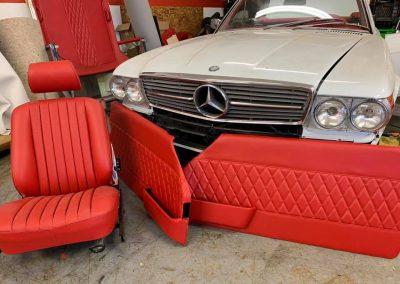 Classic Mercedes Benz upholstery repair