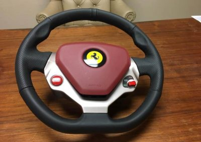 Ferrari Steering Wheel Wrapping